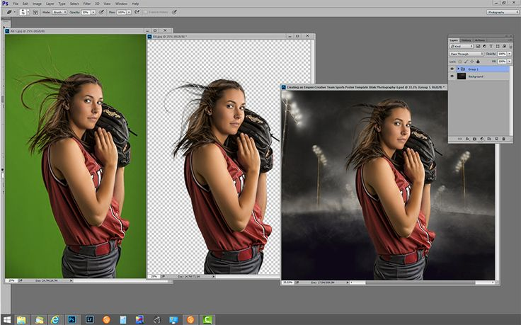 Green-screen-senior-softballl-player-athlete-sport-studio-photography-shirk-composite-photoshop-action