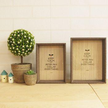 Simple Retro Wood frame home office desktop photo frame Imitation wood pattern decorative ornaments