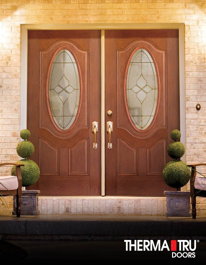 Therma-Tru Fiber-Classic Mahogany Collection Doors With
