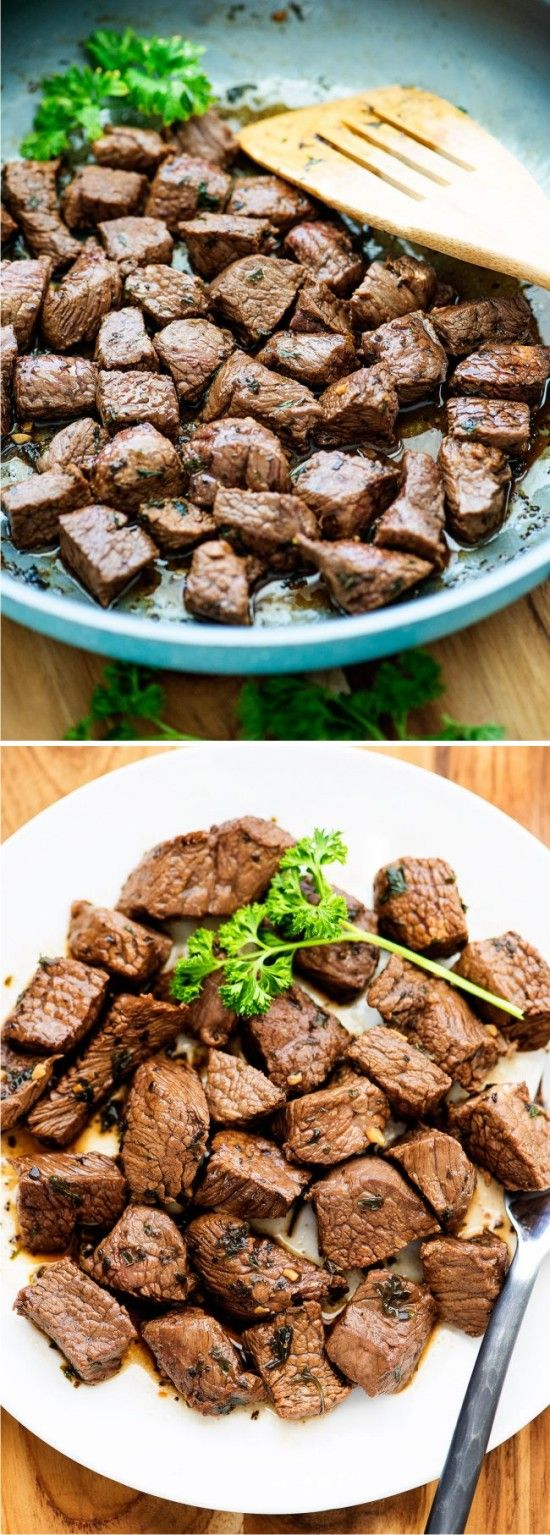 SUPER DELICIOUS STEAK BITES - bites, delicious, healthy, steak
