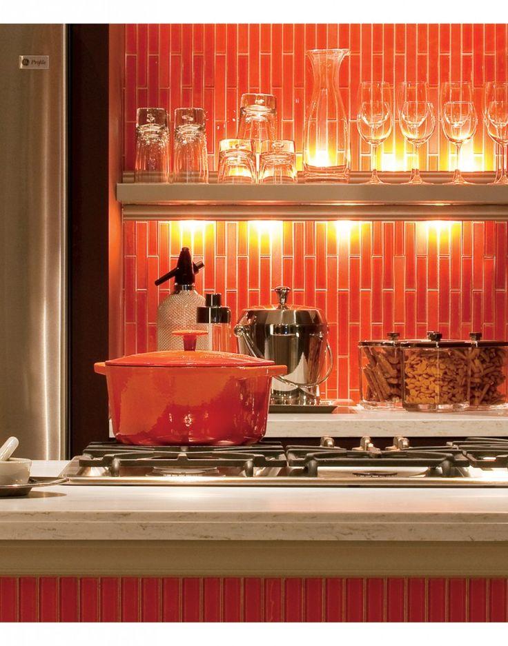 orange kitchen more orange kitchen decor here
