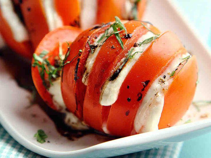 Grillatut mozzarella-tomaatit