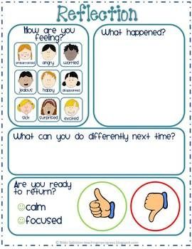 Directions and printables to create a Take A Break station which encourages children to manage and regulate their own emotions and behaviors.$