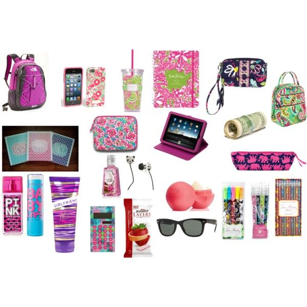 """What's In My Backpack! (:"" by tarynmartin18 on Polyvore"