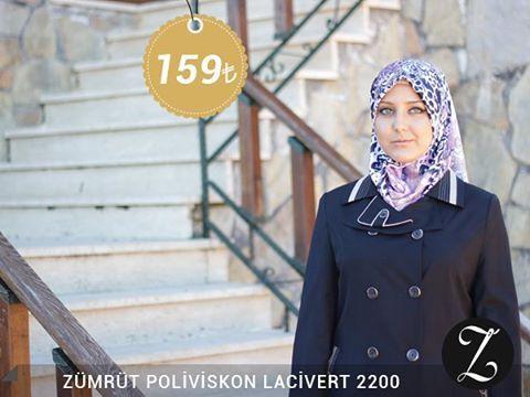 Zümrüt Poliviskon Lacivert Pardesü 2200 Fiyat, soru ve siparişleriniz için bizi arayabilir veya Whatsapp üzerinden iletişime geçebilirsiniz : 0 545 675 16 16 #moda #kaban #manto #sonbahar #pardesü #hijab #tesettür #kapalıgiyim #tesettürgiyim #fashion #hijabfashion #trend #kombin #kaşe #tesettürmoda #deri #style #stil #bursa #çarşı #yenisezon #tesettürtrend #türban #tunik #eşarp #başörtüsü #kampanya #indirim #fallwinter #ferace