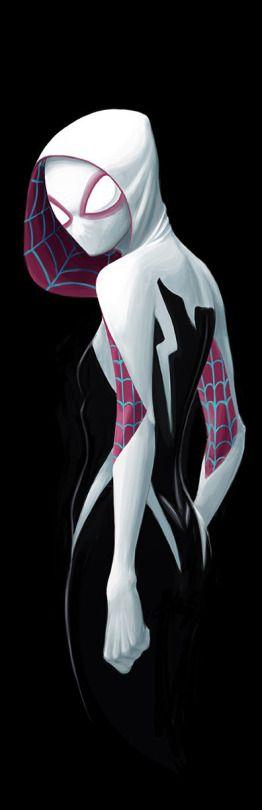 This Spider-gwen costume is so cool. Spider Gwen by David Joyce