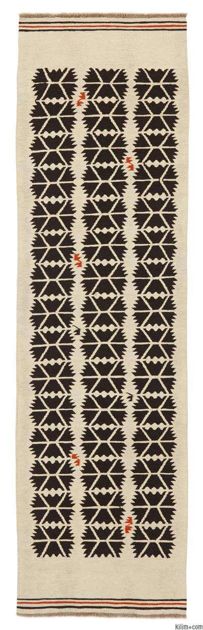 Painted hallway floor anyone?? Turkish Kilim Runner Rug