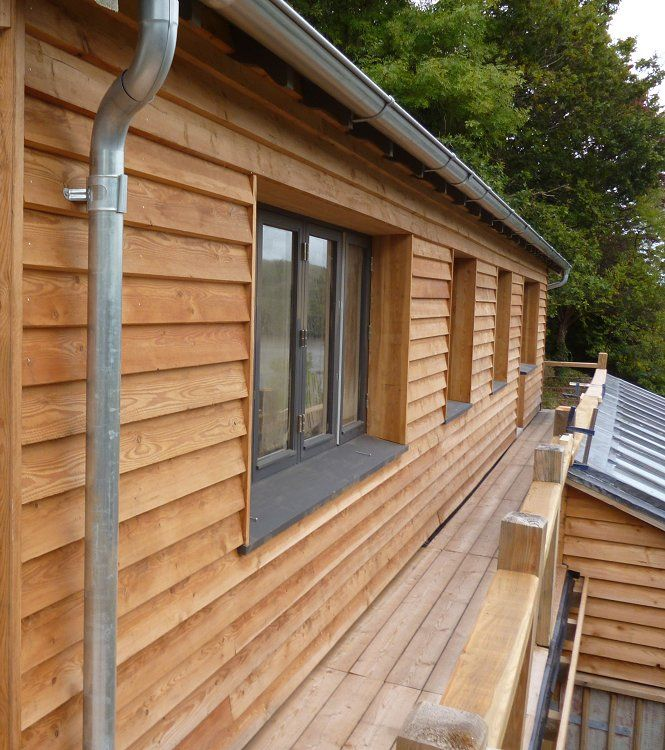 Information on popular cladding timbers, including Thermowood cladding