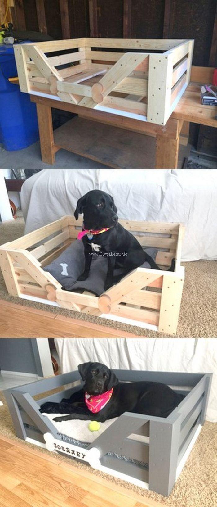 Lit Pour Chien Palette très belle idée de lit pour chien palettes en bois | lit