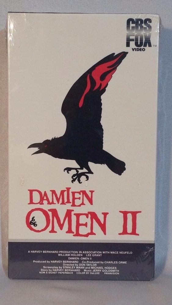 Damien Omen II CBS FOX VHS VIDEO Horror NEW 1984 Release