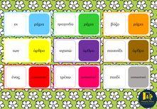 Το παιχνίδι αυτό φτιάχτηκε για να μάθουν τα παιδιά να ξεχωρίζουν τα μέρη του λόγου. Πιο συγκεκριμένα ξεχωρίζουν το άρθρο από το ουσιαστικό και το ρήμα. Κάθε κάρτα ντόμινο έχει μία πλευρά με μία από τις λέξεις άρθρο, ουσιαστικό, ρήμα. Στην άλλη πλευρά της κάρτας βρίσκεται ένα παράδειγμα ουσιαστικού, ρήματος ή άρθρου. Τα παιδιά θα πρέπει να ταιριάξουν σωστά τις λέξεις. Για παράδειγμα τη λέξη άρθρο με το οι κ.ο.κ. Για περισσότερα http://anoixtestaxeis.weebly.com/