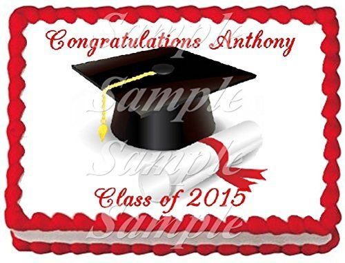 Edible Cake Images For Graduation : Graduation 4 Edible Frosting Sheet Cake Topper - 1/4 Sheet ...
