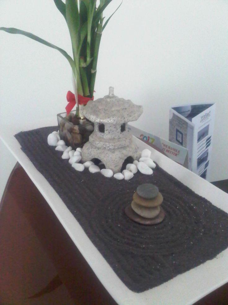 Miniature Zen Garden With Mini Japanese Lantern By WallzArt