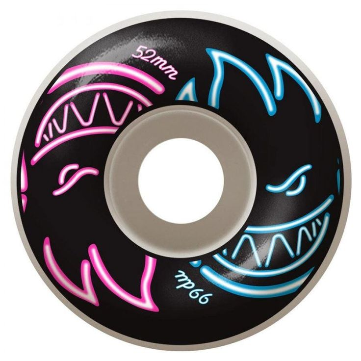 Spitfire Wheels Get Lit Neon 52mm 99a - Pink/Blue : Spitfire wheels are manufactured in a way that allows them to avoid shape constraining molds like other wheels out there. Each wheel is shaped and d