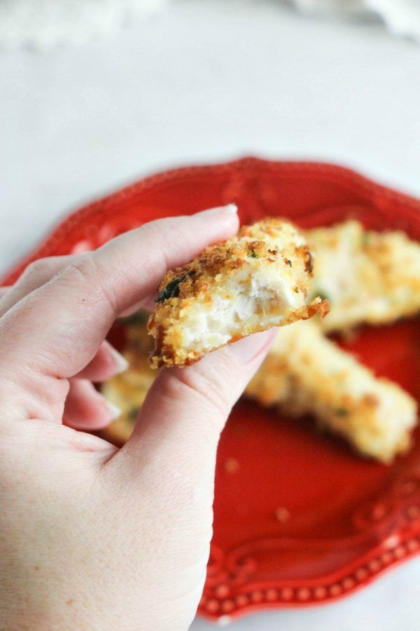 "Baked Parmesan Chicken Fingers: THE Friday Night Finger that will have them BEGGING for ""more please!"""