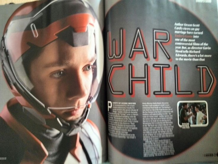 Empire magazine- Ender's game feature typography and colour