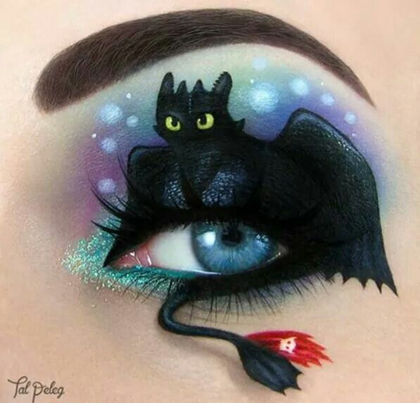 Passionate makeup painting by Tal Peleg toothless