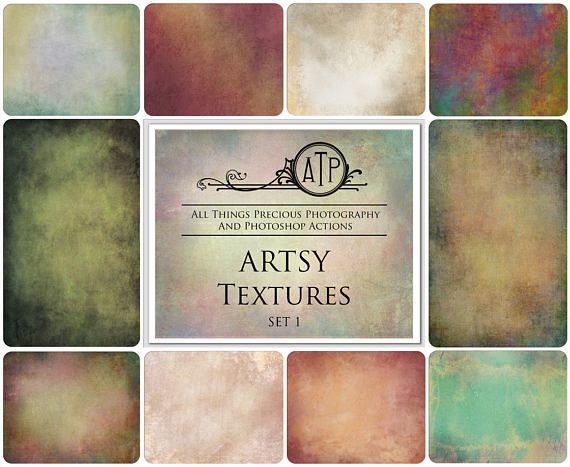 Fine Art Digital ARTSY Textures / Overlays SET 1