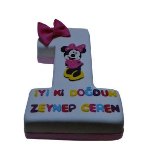 1 yaş minnie mouse doğum günü pastası, 1 yas  butik pasta, ankara butik pasta, 1 yaş doğum günü pastası, Morde 1 yaş minnie mouse pastası