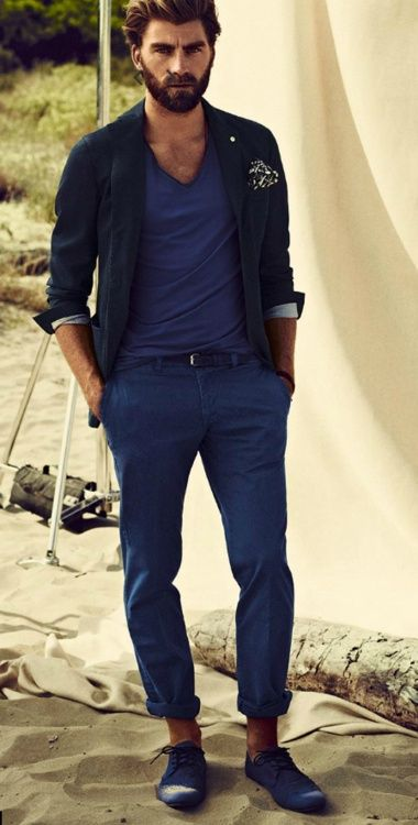 Because it's all about blue this season! #menswear #style