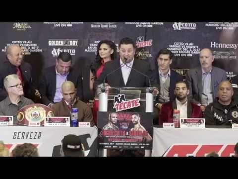 MIGUEL COTTO VS. SADAM ALI FINAL PRESS CONFERENCE OF COTTO'S CAREER