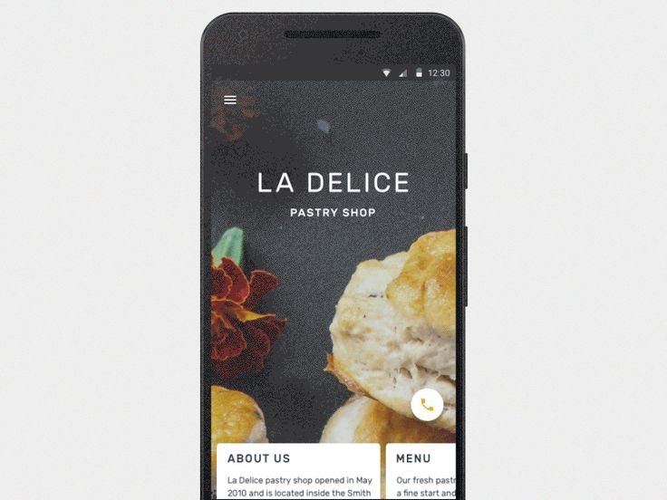 Restaurant app for Android