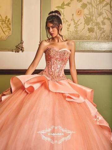 986eec33f Floral Embroidered Quinceanera Dress by Ragazza Fashion B86-386 in ...