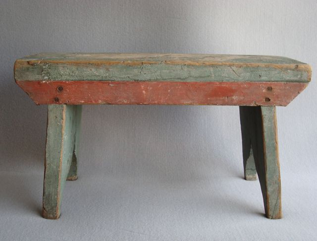 Green and red stool & 119 best Benches Stools u0026 Primitive Chairs images on Pinterest ... islam-shia.org