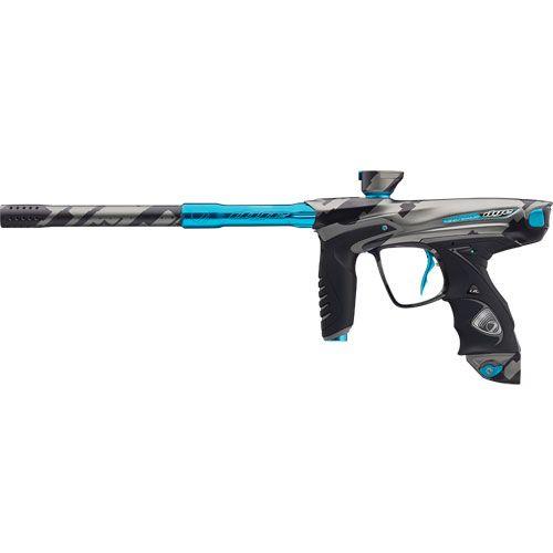 DYE DM14 Paintball Gun PGA Airstrike Cyan   Badlands Paintball Gear Canada