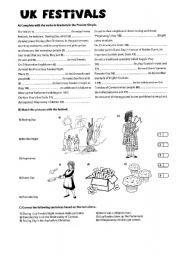 English Worksheets: UK festivals