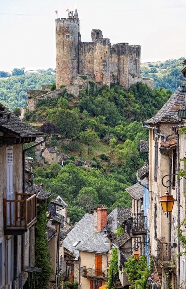Castle in Najac, France.