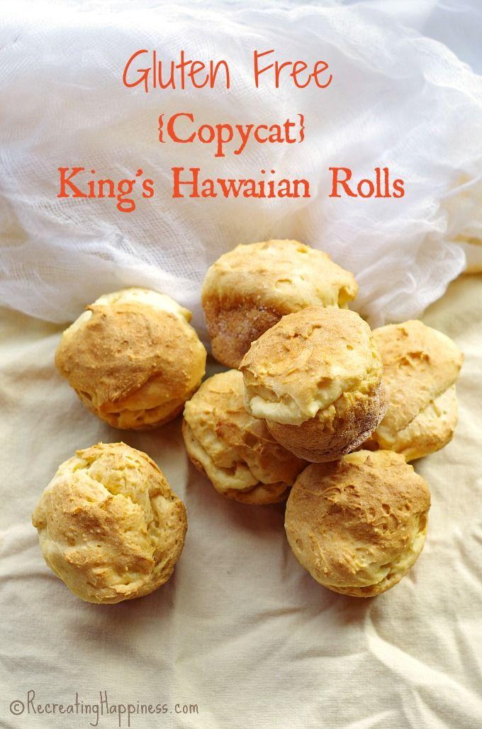 Perfectly squishy & sweet Gluten Free Copycat King's Hawaiian Rolls #glutenfree