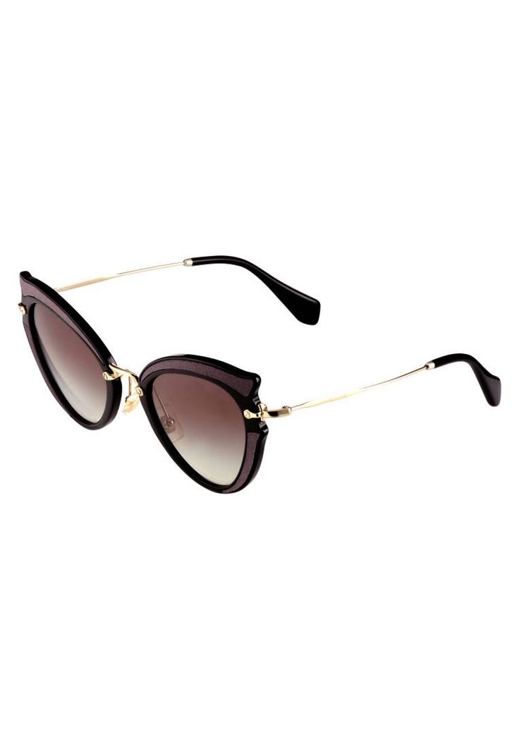 Miu Miu. Occhiali da sole - black. #occhialidasole #sunglasses #zalandoIT #fashion #moda Portaocchiali:Sacchetto con coulisse,Custodia rigida. Forma occhiali:Farfalla. Protezione UV:Sì. Astine:14 cm nella taglia 52. Ponte:2 cm nella taglia 52. Larghezza:14 cm nella taglia 52. Fantasia:...