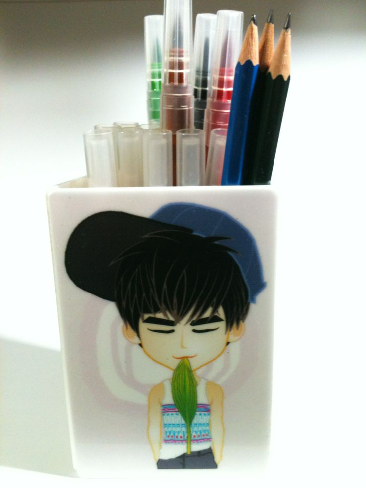 pencil BOX   acrylic Standing CARD   created by +RATNA HAR (Little Lumut)