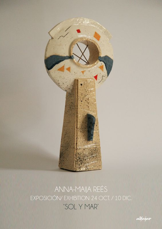 Cartel de la exposición de Anna-Maija Reés en Málaga