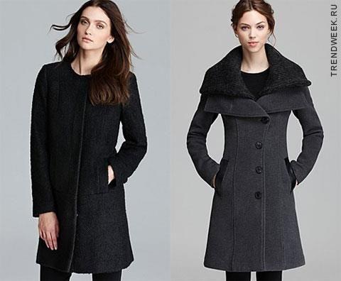 Модная длина женского зимнего драпового пальто должна быть