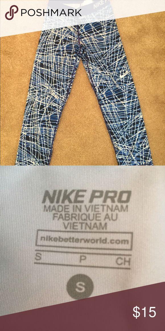 Nike Pro Legging Nike pro Capri legging hypercool electric blue Nike Pants Capris