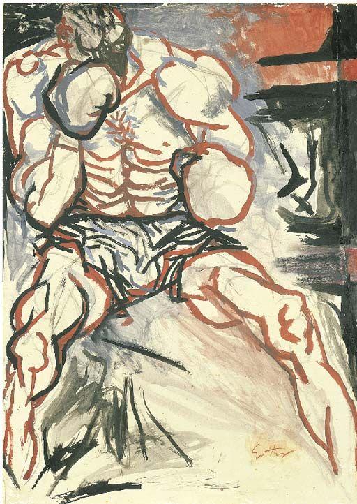 Renato Guttuso (Italian, 1912-1987), Il Pugile (The Boxer)