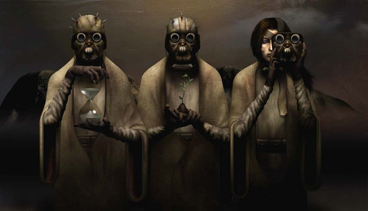 The Sacrifice by David Ho, via his website www.davidho.com, under gallery, commercial. Tusken Raiders. Not only is his art interesting but so is his website's design.