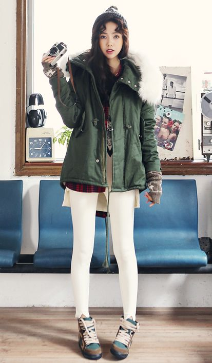 OMG Wanna Use This Outfit Now!! Itu0026#39;s Cold Here!! | CozyCoats/Jackets | Pinterest | Skirts ...