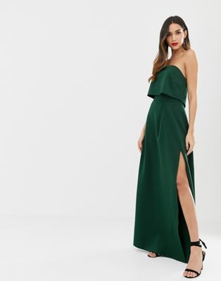 b1a5cd995c Image 1 of ASOS DESIGN bandeau crop top maxi prom dress
