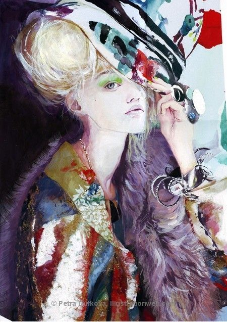 Fashion illustration - I love everything about this illustration especially the use of colour.