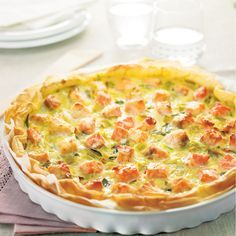 WeightWatchers.fr : recette Weight Watchers - Tarte saumon et poireau