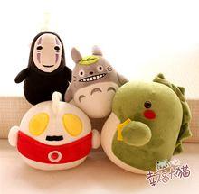5 Tasarımlar 16 cm Yaratıcı Peluş Oyuncaklar Totoro, hiçbir Yüz Adam, ve Küçük Canavar Popüler Bambu Kömür Çocuk Oyuncakları(China (Mainland))
