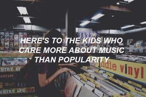 Somos la generación a quien le importa más la música que las personas.