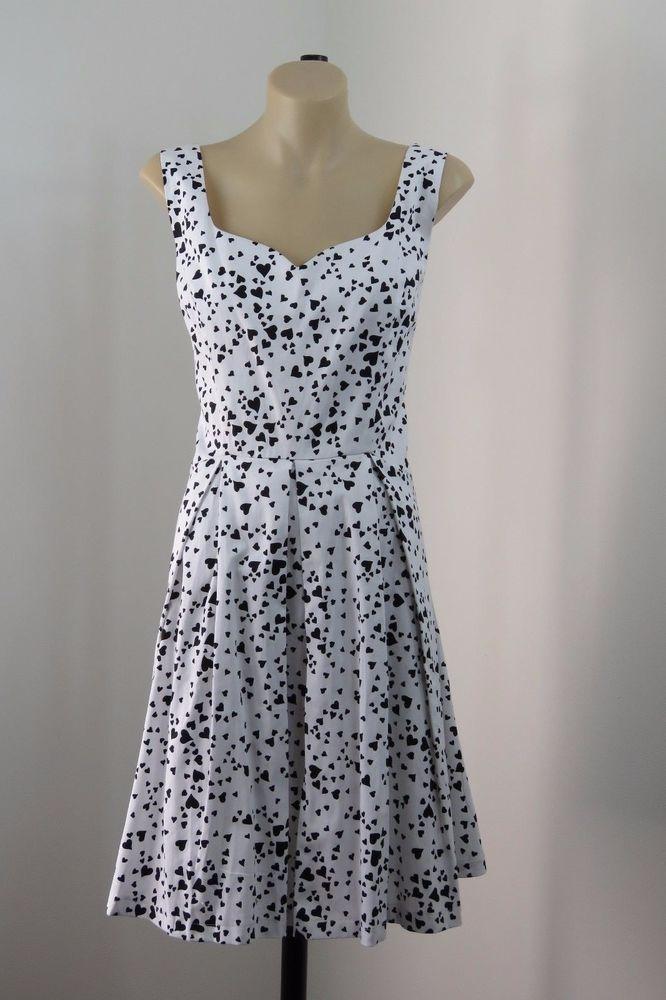 NWT Sz XL 16 Ladies White Love Heart Dress Retro Pinup Vintage Rockabilly Swing  | eBay