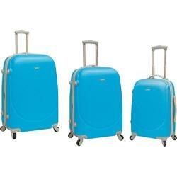 TPRC Barnet 3 Piece Hard-Side Expandable Luggage Set Neon Blue - Overstock™ Shopping - Great Deals on TPRC Three-piece Sets