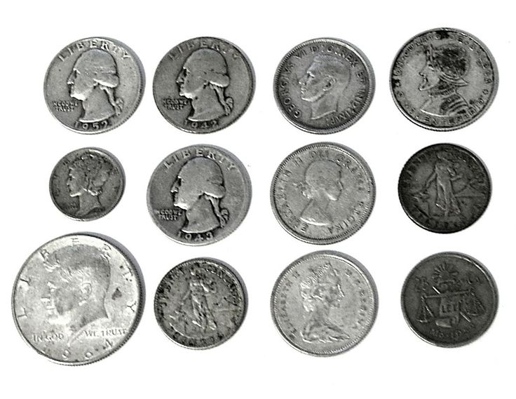 Item specifics     Circulated/Uncirculated:   Circulated   Composition:   Silver      EXACT COINS: – 12  U.S.A. & WORLD SILVER COIN MIXED LOT * OLD JUNK SILVER COINS  Price : 36.65  Ends on : 4 weeks  View on eBay  Post...