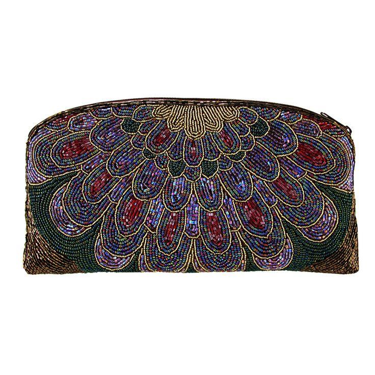 On The Fringe Art-Deco Beaded Evening Clutch Handbag IKI-23