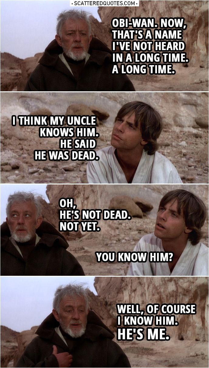 20 Best Star Wars A New Hope 1977 Quotes In A Galaxy Far Far Away Scattered Quotes Star Wars Quotes Star Wars History Star Wars Humor